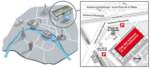 Plan de metro corentin cariou subway application - Porte de la villette cite des sciences ...